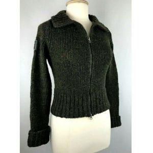 Abercrombie & Fitch Zip Knit Wool Heavy Sweater